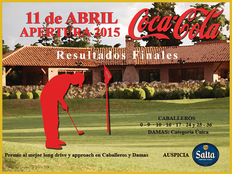 Resultados Finales APERTURA 2015 «COCA COLA»