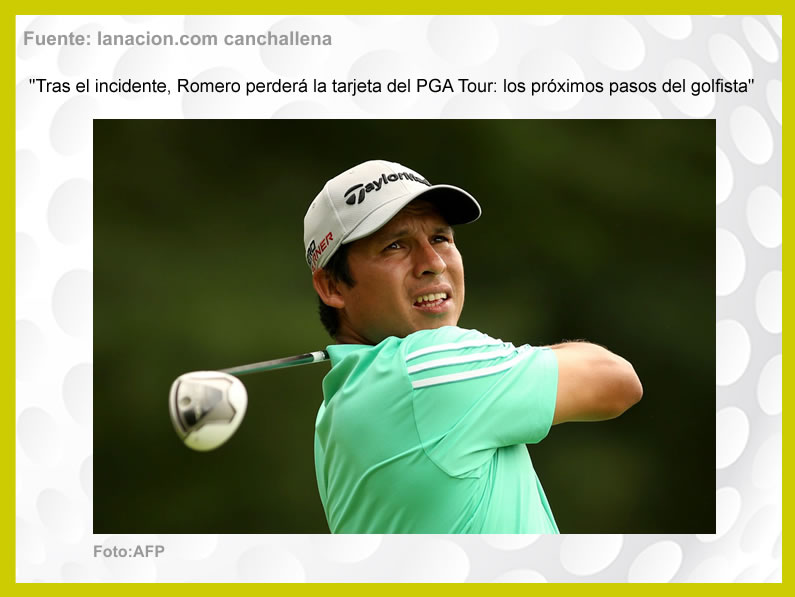 «Romero perderá la tarjeta de la PGA Tour»