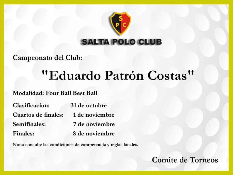 Campeonato «EDUARDO PATRON COSTAS»