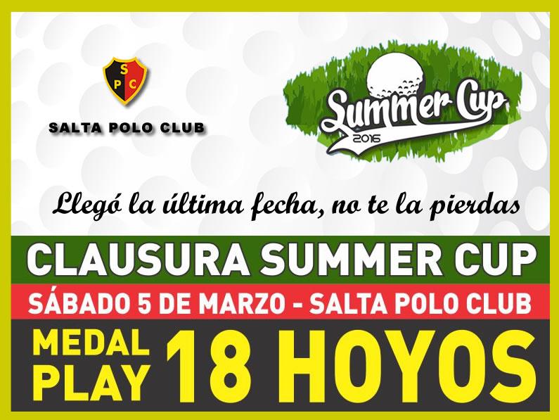 Clausura Copa «SUMMER CUP» Edición 2016