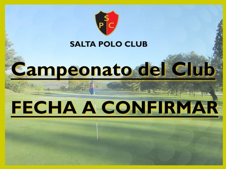 CAMPEONATO DEL CLUB 2017