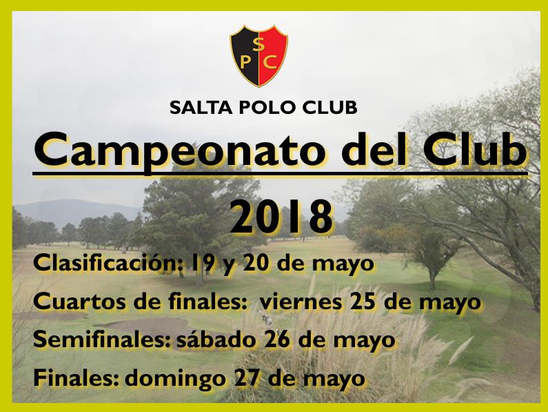 CAMPEONATO DEL CLUB 2018