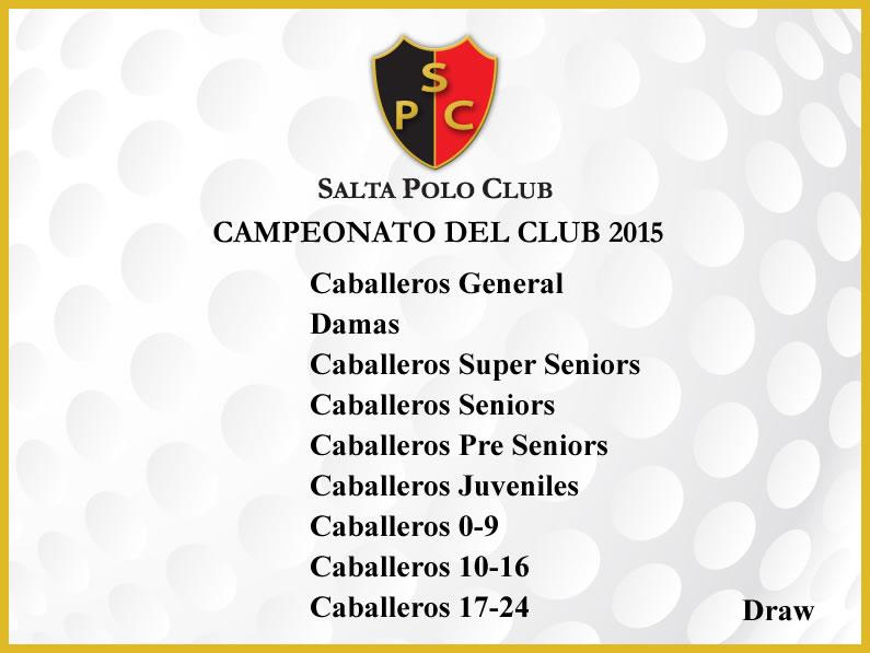Campeonato del Club Edición 2015 – Resultados Finales