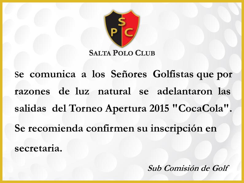 APERTURA 2015 «COCACOLA»