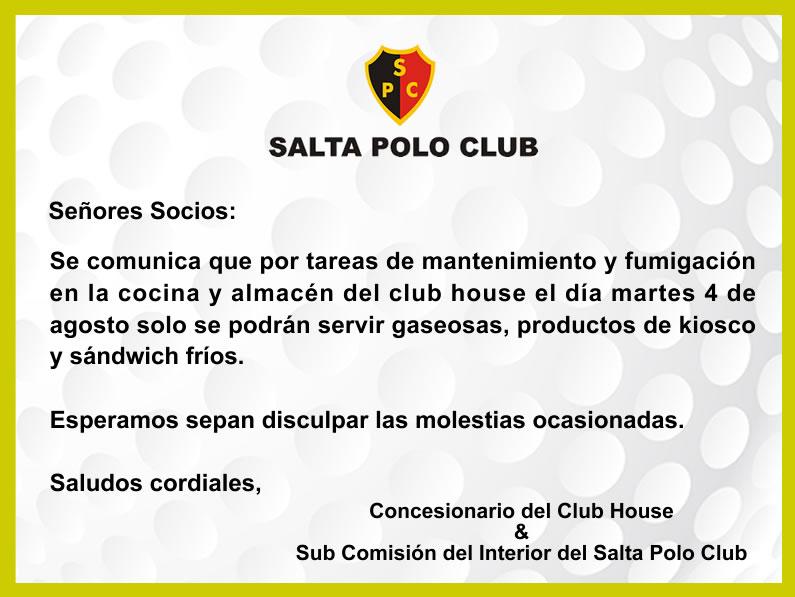 Fumigación en el Club House del Salta Polo Club