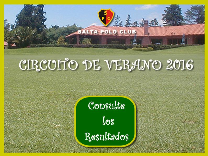 CIRCUITO DE VERANO 2016