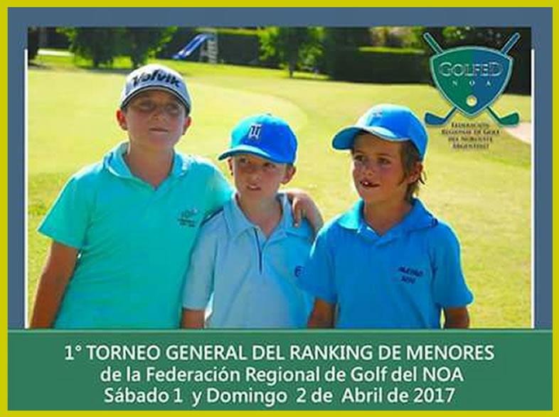 1º Torneo Temporada 2017 – Menores de la F.R.G.N.O.A.