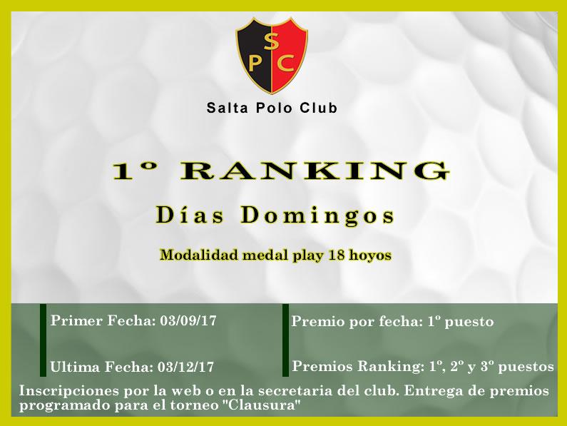 Circuito & Ranking de los días Domingos