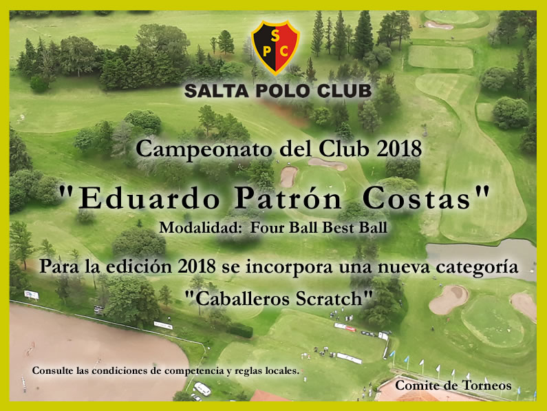 CAMPEONATO DEL CLUB FOUR BALL 2018