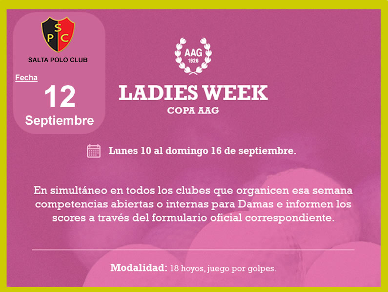 LADIES WEEK