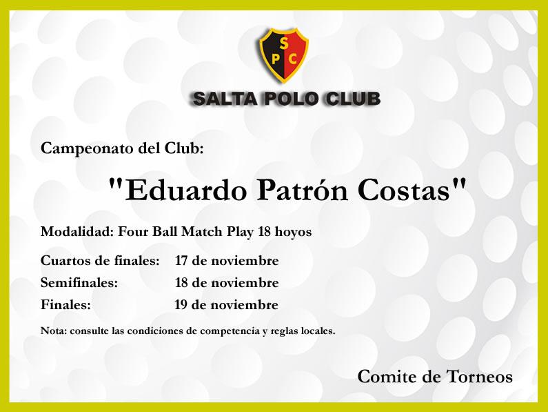 Campeonato del Club «EDUARDO PATRON COSTAS»