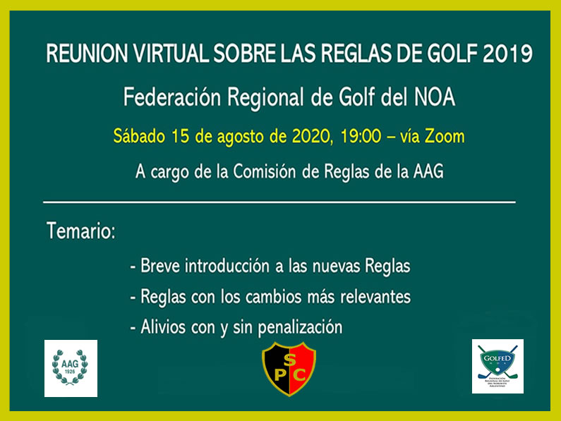 Reunión Virtual por Zoom sobre Reglas de Golf 2019