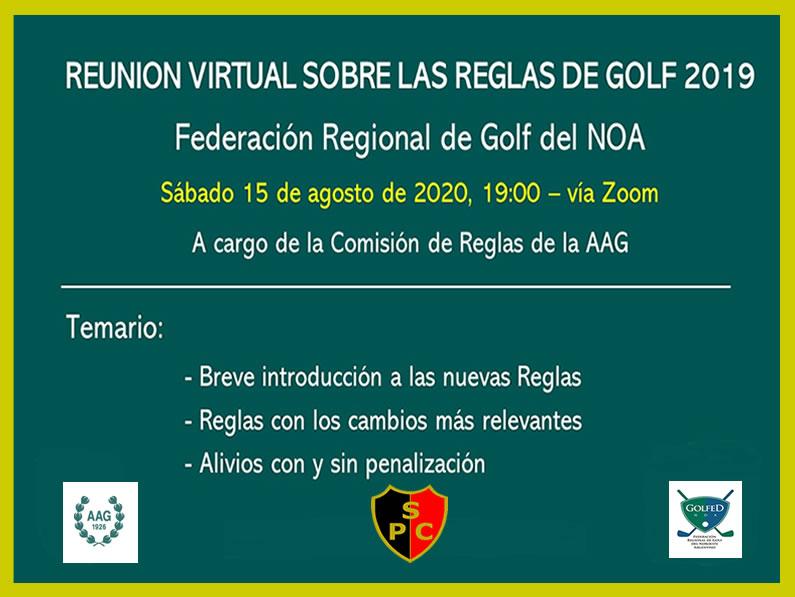 Reunión Virtual por Zoom sobre Reglas de Golf 2019